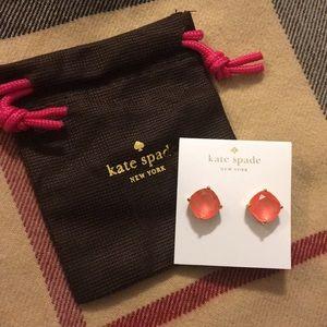 🖤 Kate Spade EARRINGS large pink studs